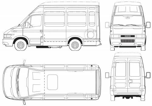 Blueprints > Cars > Iveco > Iveco Daily 65C17 Van