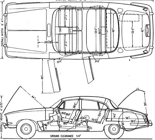 Blueprints > Cars > Jaguar > Jaguar Mk X (1962)