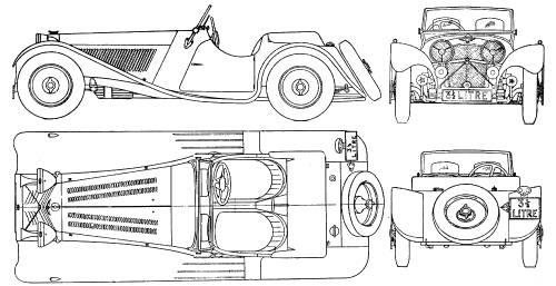 Blueprints > Cars > Jaguar > Jaguar SS 100