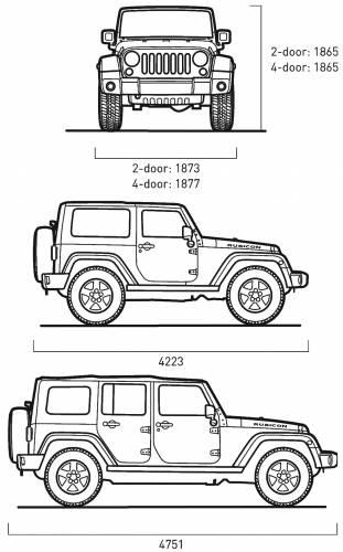 Blueprints > Cars > Jeep > Jeep Wrangler (2007)