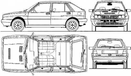 Blueprints > Cars > Lancia > Lancia Delta HF Integrale