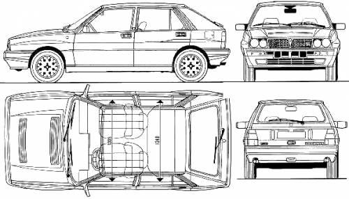 Blueprints > Cars > Lancia > Lancia Delta HF Integrale 16v