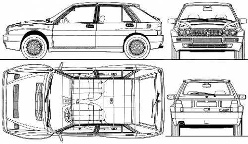 Blueprints > Cars > Lancia > Lancia Delta HF Integrale Evo I