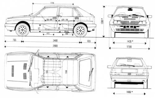 Blueprints > Cars > Lancia > Lancia Delta Integrale 8V