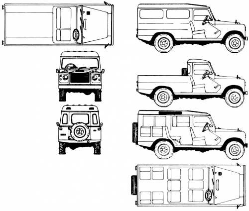 Blueprints > Cars > Land Rover > Land Rover 109 Santana (1975)