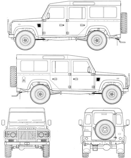 Blueprints > Cars > Land Rover > Land Rover Defender 110