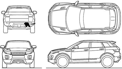 Blueprints > Cars > Land Rover > Land Rover Evoque (2013)