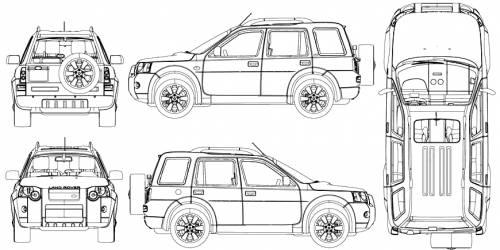 Blueprints > Cars > Land Rover > Land Rover Freelander (2004)