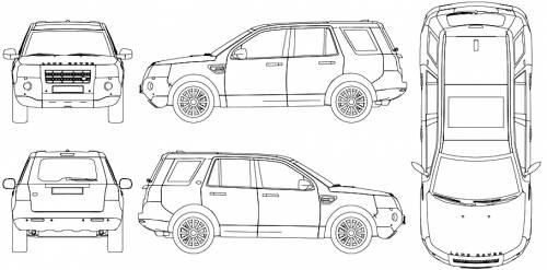 Blueprints > Cars > Land Rover > Land Rover Freelander LR2