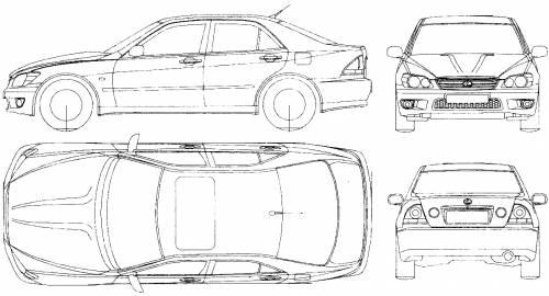 Blueprints > Cars > Lexus > Lexus IS300 (2003)