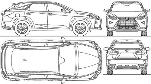 Blueprints > Cars > Lexus > Lexus RX 350 (2016)