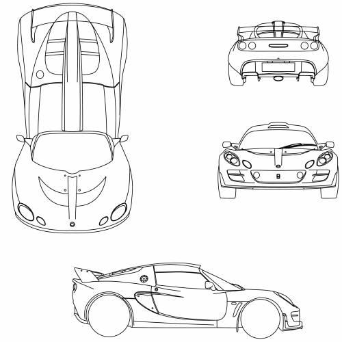 Blueprints > Cars > Lotus > Lotus Exige Scura (2010)