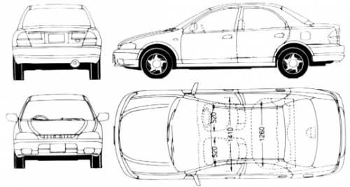 Blueprints > Cars > Mazda > Mazda 323 Lantis (1997)