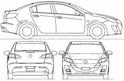 Blueprints > Cars > Mazda > Mazda 3 S2 4-Door (2009)
