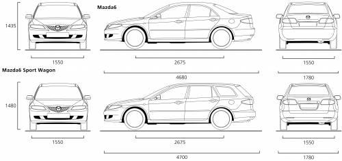 Detalle de mi coche: Dimensiones mazda 6