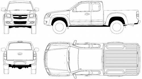 Blueprints > Cars > Mazda > Mazda BT-50 Crew Cab 4x4 (2006)