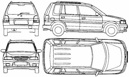 Blueprints > Cars > Mazda > Mazda Demio (2001)