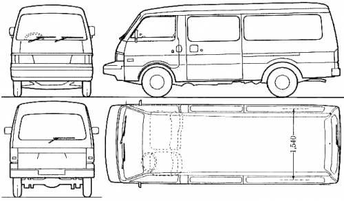 Blueprints > Cars > Mazda > Mazda E Series Van (1988)