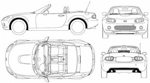 Blueprints > Cars > Mazda > Mazda MX-5 Miata (2005)