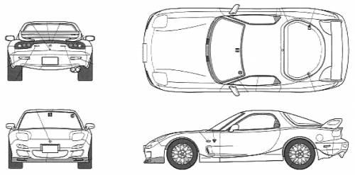 Blueprints > Cars > Mazda > Mazda RX-7 FD3S Spirit R