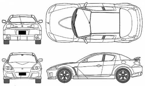 Blueprints > Cars > Mazda > Mazda RX-8 MAZDASpeed Version II