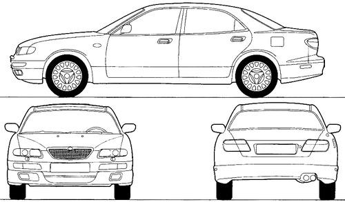 Blueprints > Cars > Mazda > Mazda Xedos 9 (1993)