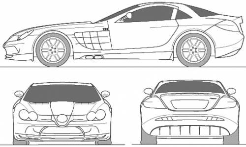Blueprints > Cars > McLaren > McLaren Mercedes SLR 722