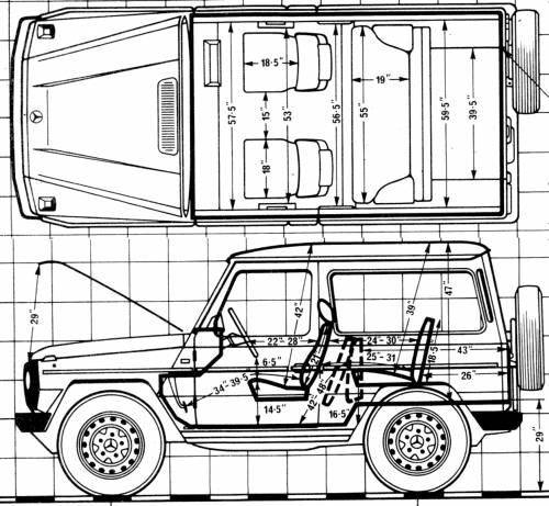Blueprints > Cars > Mercedes-Benz > Mercedes-300 GD swb (1981)