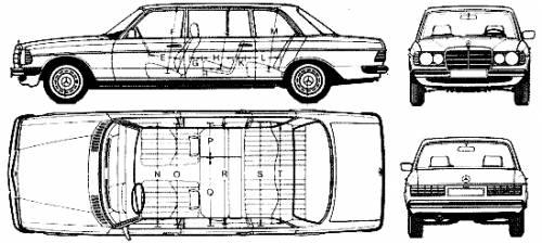 Mercedes-Benz 240D LWB W123 (1977)