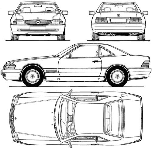 Blueprints > Cars > Mercedes-Benz > Mercedes-Benz 500 SL