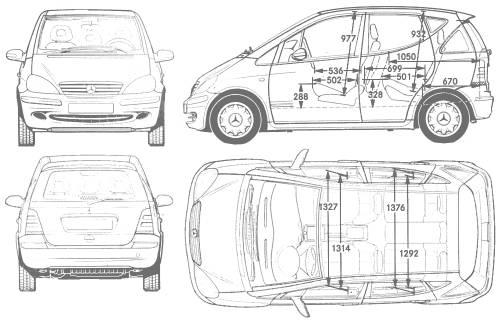 Blueprints > Cars > Mercedes-Benz > Mercedes-Benz A-Class