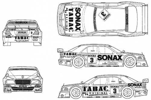 Mercedes-Benz C-Class DTM SONAX TABAC (1994)
