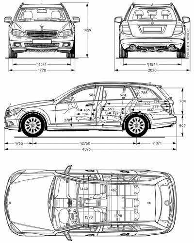 Mercedes c class saloon dimensions