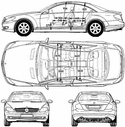 Blueprints > Cars > Mercedes-Benz > Mercedes-Benz CL500 (2006)