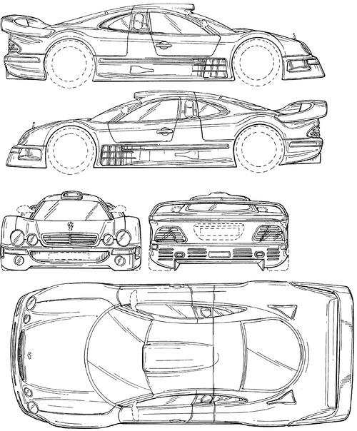 Blueprints > Cars > Mercedes-Benz > Mercedes-Benz CLK GTR