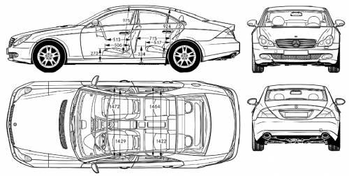 Blueprints > Cars > Mercedes-Benz > Mercedes-Benz CLS (2005)