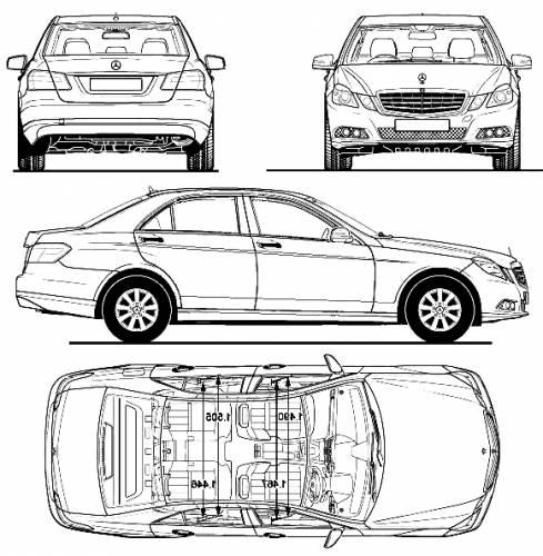 Blueprints > Cars > Mercedes-Benz > Mercedes-Benz E-Class