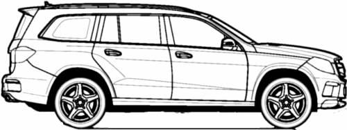Blueprints > Cars > Mercedes-Benz > Mercedes-Benz GL 350