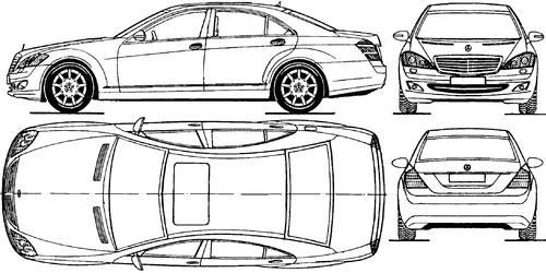 Blueprints > Cars > Mercedes-Benz > Mercedes-Benz S-Class