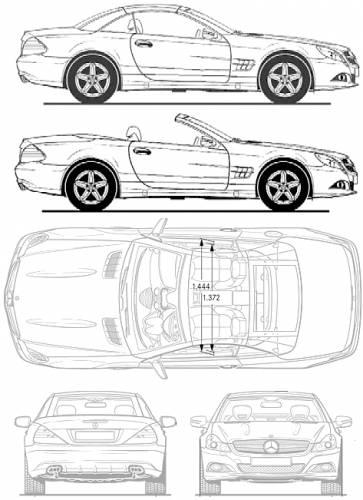 Blueprints > Cars > Mercedes-Benz > Mercedes-Benz SL500 (2011)