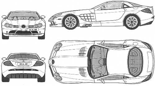 Blueprints > Cars > Mercedes-Benz > Mercedes-Benz SLR Mclaren