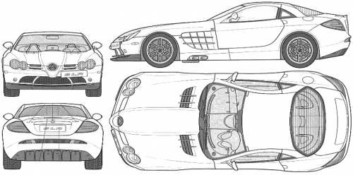 Blueprints > Cars > Mercedes-Benz > Mercedes-Benz SLR