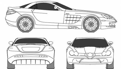 Mercedes benz slr mclaren blueprints