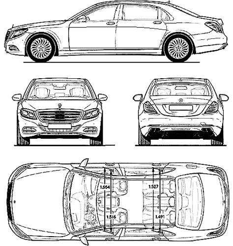 Blueprints > Cars > Mercedes-Benz > Mercedes-Maybach S