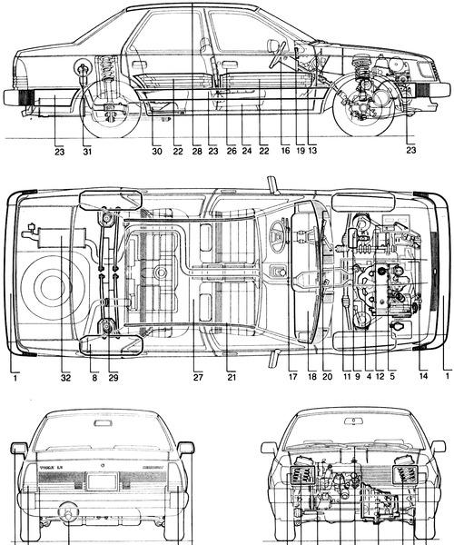 Blueprints > Cars > Mercury > Mercury Topaz (1984)