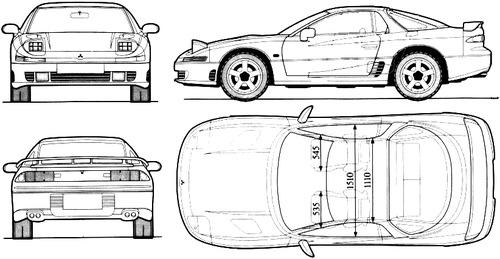 Blueprints > Cars > Mitsubishi > Mitsubishi 3000GT (1990)