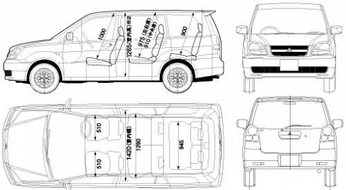 Blueprints > Cars > Mitsubishi > Mitsubishi Dion (2005)