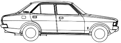 Blueprints > Cars > Mitsubishi > Mitsubishi Galant (1972)