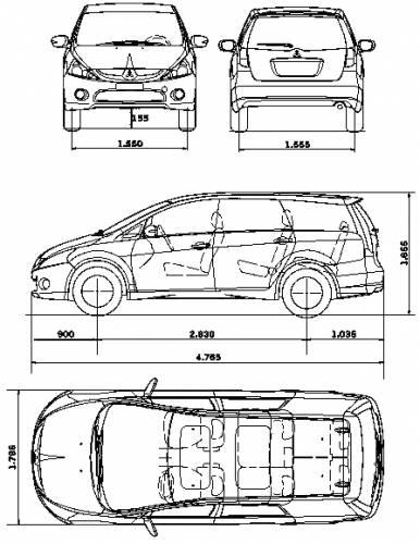 Blueprints > Cars > Mitsubishi > Mitsubishi Grandis