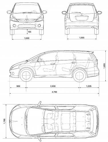 Blueprints > Cars > Mitsubishi > Mitsubishi Grandis (2007)